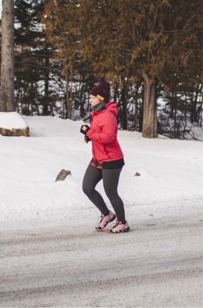 Maggie boucher en jogging